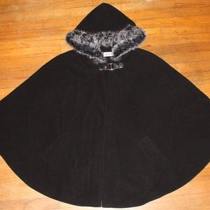 women's black cape with hood